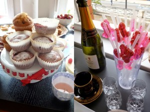 Glam up proceedings with some bubbles and cakes!