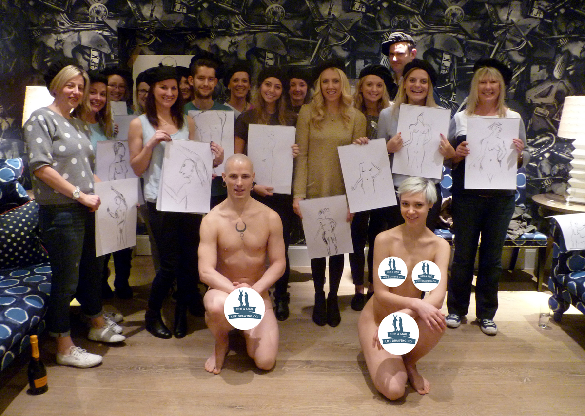 Team Building Corporate Event Life Drawing | Hen & Stag Life