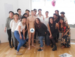 One happy hen party after our life drawing event!