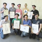 A stag party at our life drawing event!
