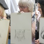 Happy hens laughing and learning with Hen & Stag Life Drawing Co.!