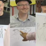 Happy stags laughing and learning the Hen & Stag Life Drawing Co. way!