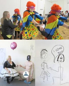 Surreal goings on at our hen life drawing party!
