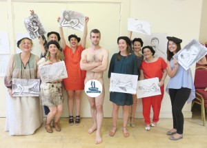 The very best hen do life drawing with the most gorgeous models!
