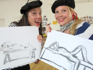 Hen party life drawing in London