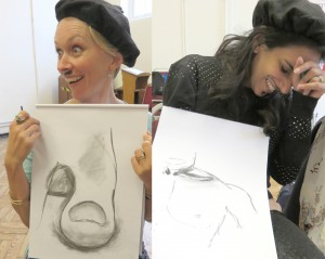 Hen Do Life Drawing Event with nude model