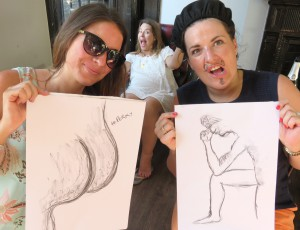 Hen do nude model live. love, life drawing!